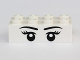Part No: 3001pb107  Name: Brick 2 x 4 with Eyes with Pupils, Eyelashes and Eyebrows Front and Eyes with Pupils Back Pattern
