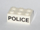 Part No: 3002oldpb05  Name: Brick 2 x 3 with Black 'POLICE' Sans-Serif Pattern