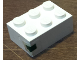 Part No: 3002oldpb11  Name: Brick 2 x 3 with Green Rectangle Pattern (Sticker) - Set 1650-1