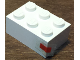 Part No: 3002oldpb12  Name: Brick 2 x 3 with Red Rectangle Pattern (Sticker) - Set 1650-1