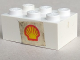 Part No: 3002oldpb13  Name: Brick 2 x 3 with Shell Logo Pattern on Both Sides (Stickers) - Set 604-1