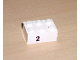 Part No: 3002pb11  Name: Brick 2 x 3 with Black '2' Pattern (Sticker) - Set 8389