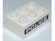 Part No: 3002pb18  Name: Brick 2 x 3 with White 'POLICE' on Black Background Pattern on Both Sides (Stickers) - Set 8186