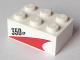 Part No: 3002pb33L  Name: Brick 2 x 3 with '350 HP' Pattern Model Left Side (Sticker) - Set 60005