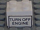 Part No: 3003pb020  Name: Brick 2 x 2 with 'TURN OFF ENGINE' Pattern on Both Sides (Stickers) - Set 6375-2