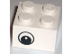 Part No: 3003pb024  Name: Brick 2 x 2 with Eye without White Pattern on Two Sides, Circle in Pupil, Offset