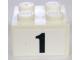 Part No: 3003pb029  Name: Brick 2 x 2 with Black  '1' Narrow Bold Font Pattern (Sticker)