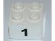 Part No: 3003pb073  Name: Brick 2 x 2 with Black  '1' Wide Bold Font Pattern (Sticker) - Set 8125