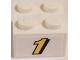 Part No: 3003pb085  Name: Brick 2 x 2 with Yellow '1' with Black Outline Pattern (Sticker) - Set 60084