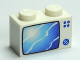 Part No: 3004pb056  Name: Brick 1 x 2 with Blue TV Screen Pattern