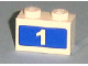 Part No: 3004pb078  Name: Brick 1 x 2 with White '1' on Blue Background Pattern (Sticker) - Set 7641