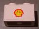 Part No: 3004pb105  Name: Brick 1 x 2 with Shell Logo Small Pattern (Sticker) - Set 7813