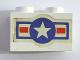 Part No: 3004pb149  Name: Brick 1 x 2 with U.S. Air Force Logo Pattern (Sticker) - Set 575-1