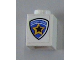 Part No: 3005pb015  Name: Brick 1 x 1 with Highway Patrol Logo Pattern (Sticker) - Sets 6111 / 8665