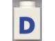 Part No: 3005ptDb  Name: Brick 1 x 1 with Blue 'D' Pattern (Bold Font)