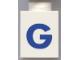 Part No: 3005ptGb  Name: Brick 1 x 1 with Blue 'G' Pattern (Bold Font)