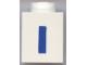 Part No: 3005ptIb  Name: Brick 1 x 1 with Blue 'I' Pattern (Bold Font)