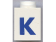 Part No: 3005ptKb  Name: Brick 1 x 1 with Blue 'K' Pattern (Bold Font)