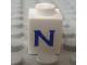 Part No: 3005ptNs  Name: Brick 1 x 1 with Blue 'N' Pattern (Serif Font)