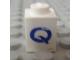 Part No: 3005ptQs  Name: Brick 1 x 1 with Blue 'Q' Pattern (Serif Font)