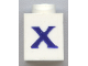 Part No: 3005ptXs  Name: Brick 1 x 1 with Blue 'X' Pattern (Serif Font)