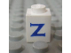 Part No: 3005ptZs  Name: Brick 1 x 1 with Blue 'Z' Pattern (Serif Font)