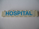 Part No: 3008pb004  Name: Brick 1 x 8 with Blue 'HOSPITAL' Pattern (Sticker) - Set 231-1