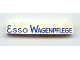 Part No: 3008pb015  Name: Brick 1 x 8 with Blue 'ESSO WAGENPFLEGE' Pattern