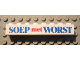 Part No: 3008pb053  Name: Brick 1 x 8 with Blue and Red 'SOEP met WORST' Text Pattern (Sticker) - Set 1592-2