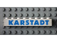 Part No: 3008pb054  Name: Brick 1 x 8 with Blue 'KARSTADT' Sans-Serif Thick Pattern