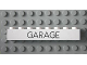 Part No: 3008pb055  Name: Brick 1 x 8 with Black 'GARAGE' Sans-Serif Thin Pattern