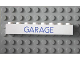 Part No: 3008pb056  Name: Brick 1 x 8 with Blue 'GARAGE' Sans-Serif Thin Pattern