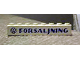 Part No: 3008pb073  Name: Brick 1 x 8 with Blue 'VW FORSALJNING' Pattern