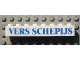 Part No: 3008pb088  Name: Brick 1 x 8 with Blue 'VERS SCHEPIJS' Text Pattern (Sticker) - Set 1592 (Dutch Version)