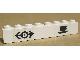 Part No: 3008pb097  Name: Brick 1 x 8 with Train Logo Black & Coffee Cup Pattern (Sticker) - Set 4554