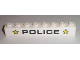 Part No: 3008pb116  Name: Brick 1 x 8 with Black 'POLICE' and Yellow Stars Pattern (Sticker) - Set 8211