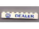 Part No: 3008px19  Name: Brick 1 x 8 with Blue 'VW DEALER' Pattern
