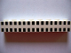 Part No: 3008px33  Name: Brick 1 x 8 with Ferry Squares Black 32 in 2 Lines Pattern