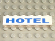 Part No: 3009pb009  Name: Brick 1 x 6 with Blue 'HOTEL' Thick Pattern