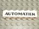 Part No: 3009pb046  Name: Brick 1 x 6 with Black 'AUTOMATIEK' Pattern