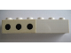 Part No: 3009pb096L  Name: Brick 1 x 6 with 3 Black Spots Left Pattern (Sticker) - Set 364