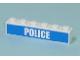 Part No: 3009pb123  Name: Brick 1 x 6 with White 'POLICE' Bold Narrow Font on Blue Pattern (Sticker) - Set 7743