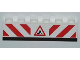 Part No: 3009pb158  Name: Brick 1 x 6 with Red and White Danger Stripes and Construction Worker Sign Pattern on Both Sides (Stickers) - Set 8199