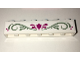 Part No: 3009pb199  Name: Brick 1 x 6 with Magenta Flower and Olive Green Scrollwork Pattern (Sticker) - Set 41068