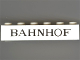 Part No: 3009px42  Name: Brick 1 x 6 with Black 'BAHNHOF' Thin Pattern