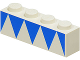 Part No: 3010p02  Name: Brick 1 x 4 with Blue Triangles Pattern
