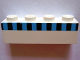 Part No: 3010pb038  Name: Brick 1 x 4 with Ferry Squares Light Blue and Black Pattern (Set 1581)