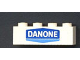 Part No: 3010px58  Name: Brick 1 x 4 with Danone Logo Pattern - Set 1591