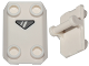 Part No: 30166pb01  Name: Plate, Modified 2 x 3 Inverted with 4 Studs and Handle on Bottom - Closed Ends (Rocker Plate) with Gray Triangle Viewfinder Pattern (SW Shield)