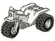 Part No: 30187c01  Name: Tricycle Complete Assembly with Dark Gray Chassis & White Wheels